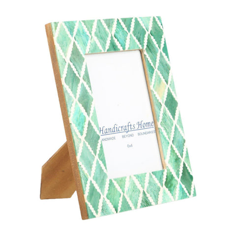 4x6 Photo Frame Green Mosaic - Diamond