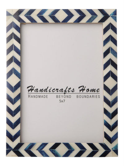 Photo Frame Blue Mosaic Chevron - 5x7 Inches