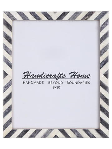 8x10 Picture Frame Chevron Pattern Photo Frames - Grey
