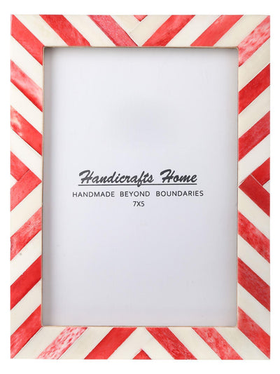5x7 Picture Frame Chevron Pattern Photo Frames - Red
