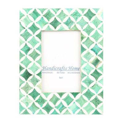 4x6 Photo Frame Green Mosaic - Star
