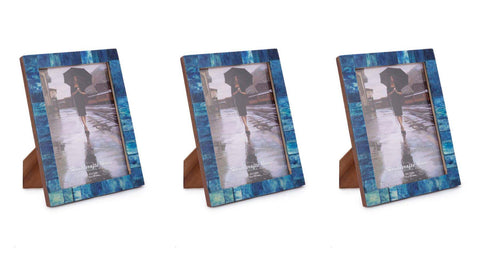 Blue Bone Inaly Photo Frames - Set of 3