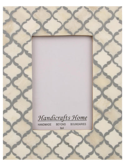 4x6 Photo Frames Moroccan Pattern Picture Frames - White - Grey