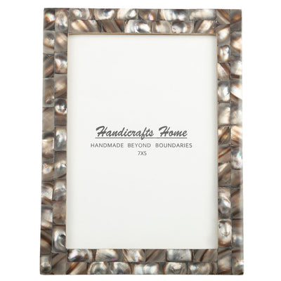 5x7 Photo Frames Mother of Pearl Picture Frame - Grey