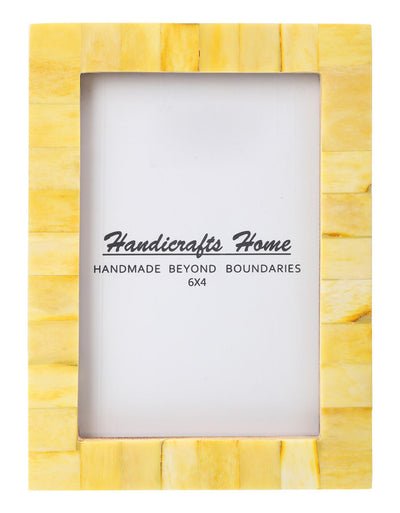 4x6 Photo Frames Handmade Chic Picture Frame - Yellow