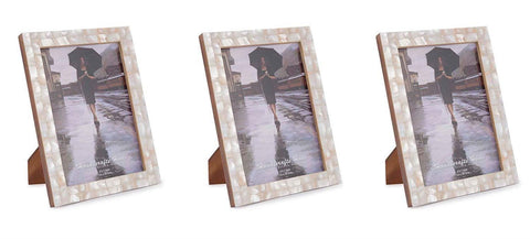 White Mother of pearle Photo Frames