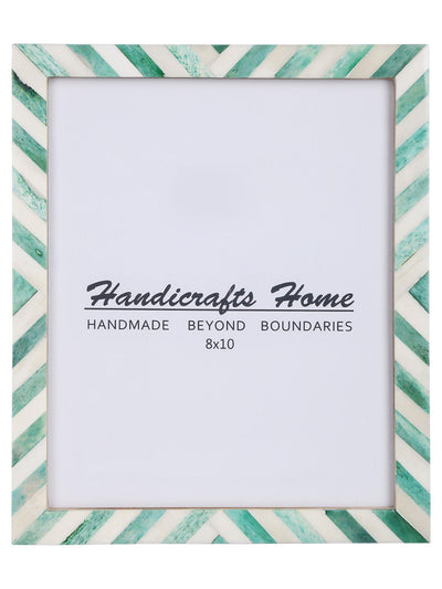8x10 Picture Frame Chevron Pattern Photo Frames - Green