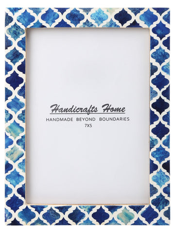 5x7 Picture Frame Moroccan Pattern Photo Frames - Blue