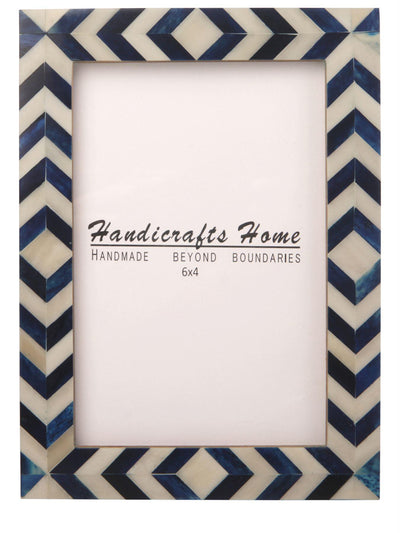 Photo Frame Blue Mosaic Chevron - 4x6 Inches