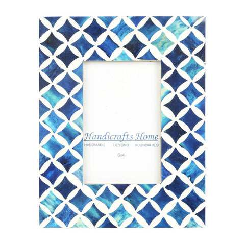 4x6 Photo Frame Blue Mosaic - Star