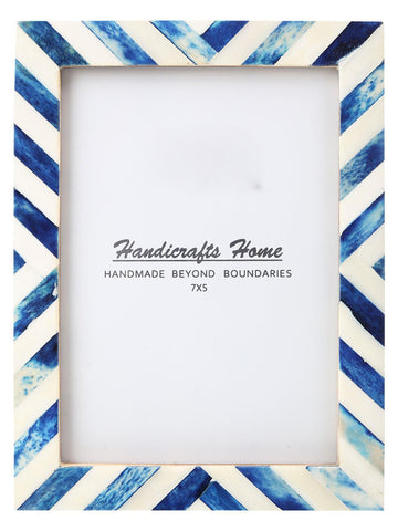 5x7 Picture Frame Chevron Pattern Photo Frames - Blue