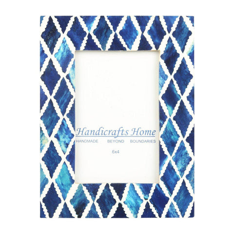 4x6 Photo Frame Blue Mosaic - Diamond