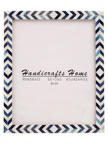 Photo Frame Blue Mosaic Chevron - 8x10 Inches