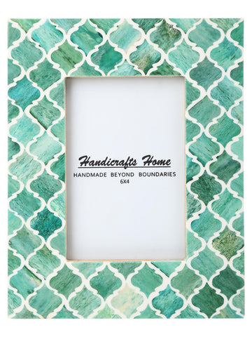 4x6 Photo Frames Moroccan Pattern Picture Frames - Green