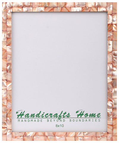 8x10 Photo Frames Mother of Pearl Picture Frame - Pink