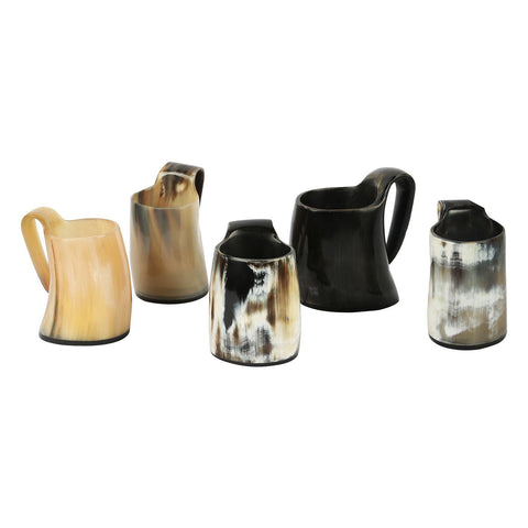 Whiskey Shot Glasses Real Horn Mug Cup - Set of 5 Pcs