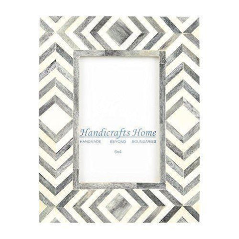 4x6 Photo Frame Slate Mosaic - Chevron