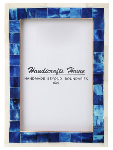 4x6 Picture Frame Mosaic Wall Decor Gift Photo Frames - Blue