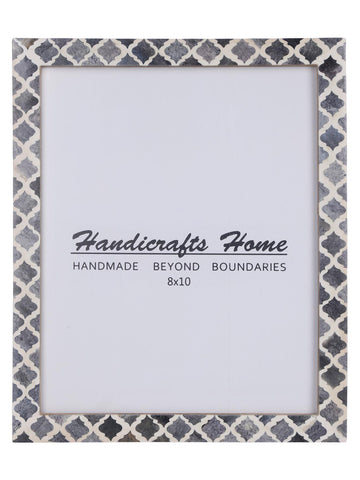 8x10 Picture Frame Moroccan Pattern Photo Frames - Grey
