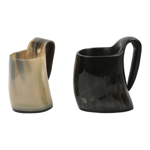 Whiskey Shot Glasses Real Horn Mug Cup - Set of 2 Pcs