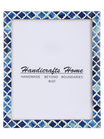 8x10 Picture Frame Moroccan Pattern Photo Frames - Blue