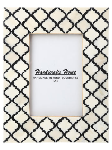4x6 Photo Frames Moroccan Pattern Picture Frames - Black-White