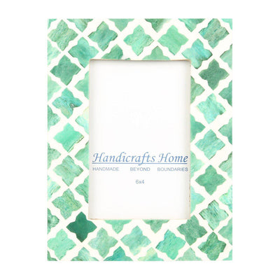 4x6 Photo Frame Green Mosaic - Quatrefoil