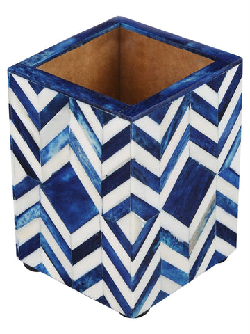 Pen Holder Moroccan Art Inspired Caddy Pencil Cup - Chevron