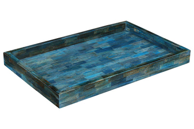 Verdigris Ideal Ottoman Decorative Tray - 26x18x3""