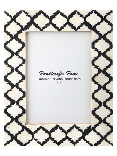 5x7 Photo Frames Moroccan Pattern Picture Frames - Black - White