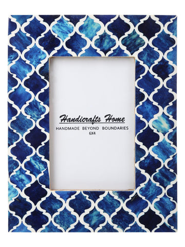4x6 Photo Frames Moroccan Pattern Picture Frames - Blue