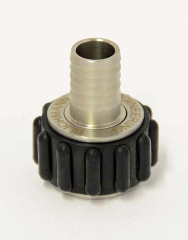 "QuickConnector 1/2 NPT,  1/2"" straight barb"