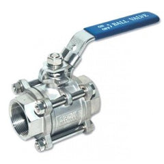 Ball valve 3 piece Stainless Steel