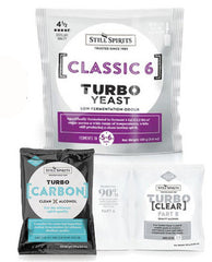 Still Spirits Turbo pack Classic 6kg yeast, carbon and Turbo clear (from $13.50 set)