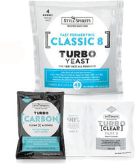 Still Spirits Turbo Pack (8kg yeast, carbon and turbo clear) from $13.50 set