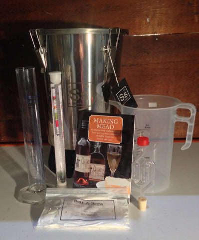 Deluxe MEAD MAKING KIT with s/steel fermenter