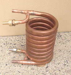Copper convoluted wort chiller