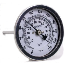 dial thermometer BSP fitting (2 probe lengths) from