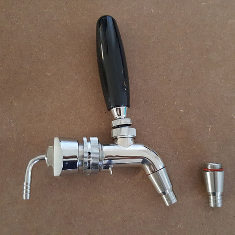 Forward sealing stainless steel faucet