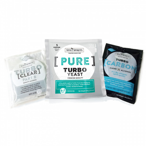 Still Spirits SUPER VALUE Turbo Pure pack (triple distilled yeast, carbon and turbo clear) from $14.00