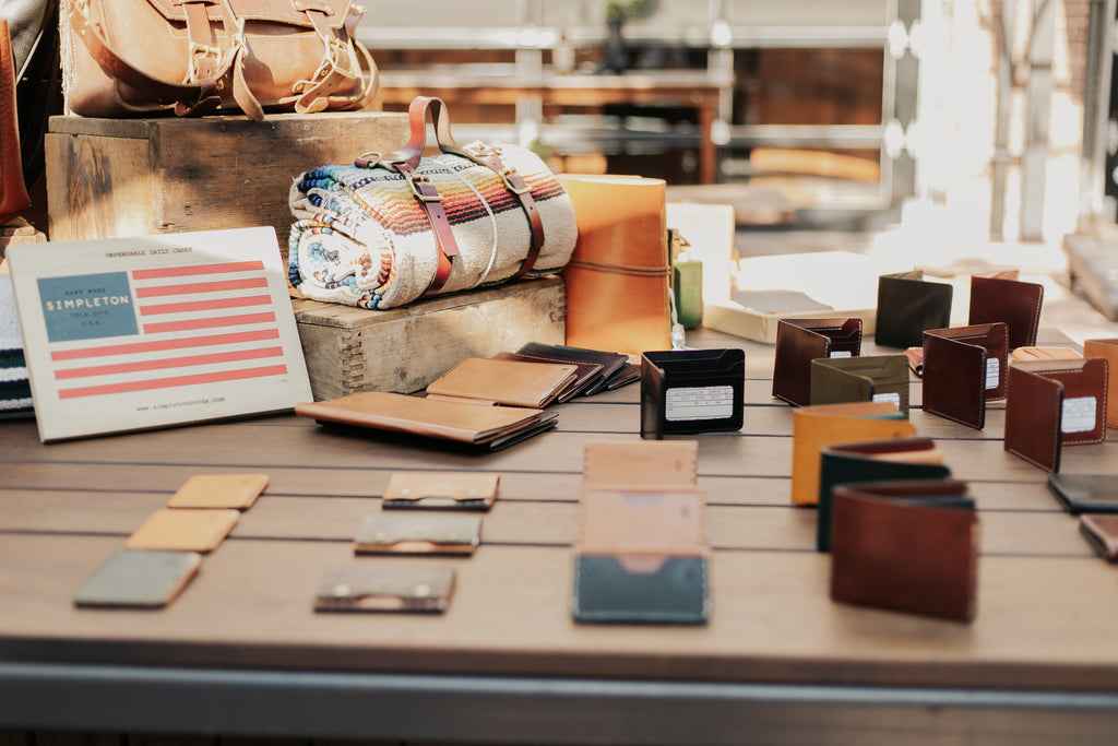 About Simpleton Goods.  Quality hand made provisions marked by an attention to detail, Simpleton Goods is committed to working class American values manifested in quality items.