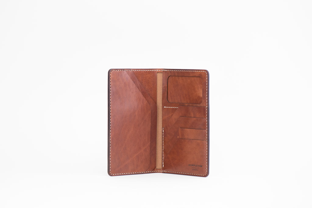 International Traveler's Tall Wallet : Buck Brown