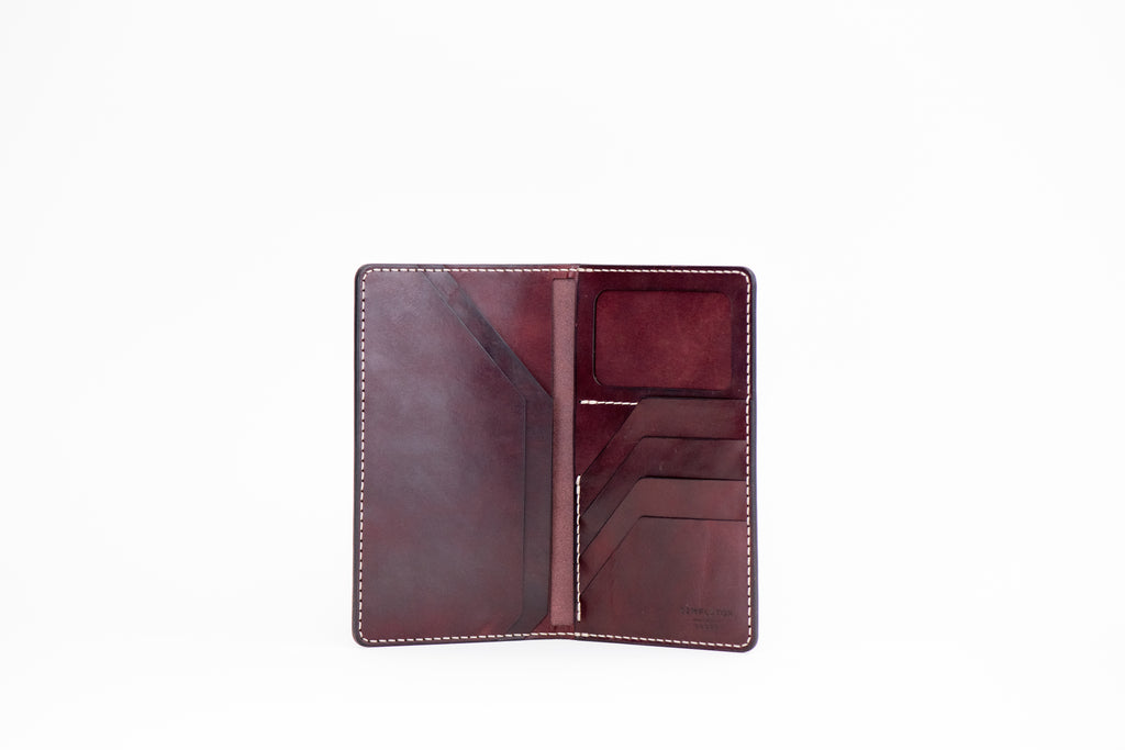 International Traveler's Tall Wallet : Burgundy