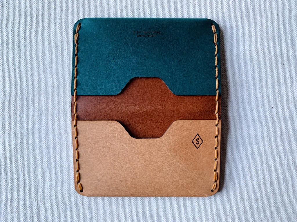 MMXX Card Fold : teal / brown