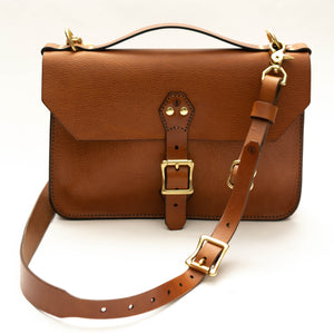 Courier Satchel: Buck Brown
