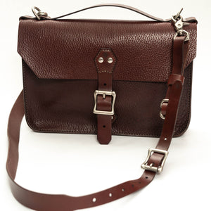 Courier Satchel: Burgundy