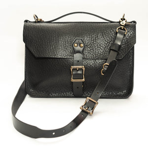 Courier Satchel: Black