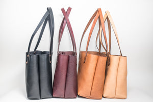 Rosette Tote : Buck Brown & Black