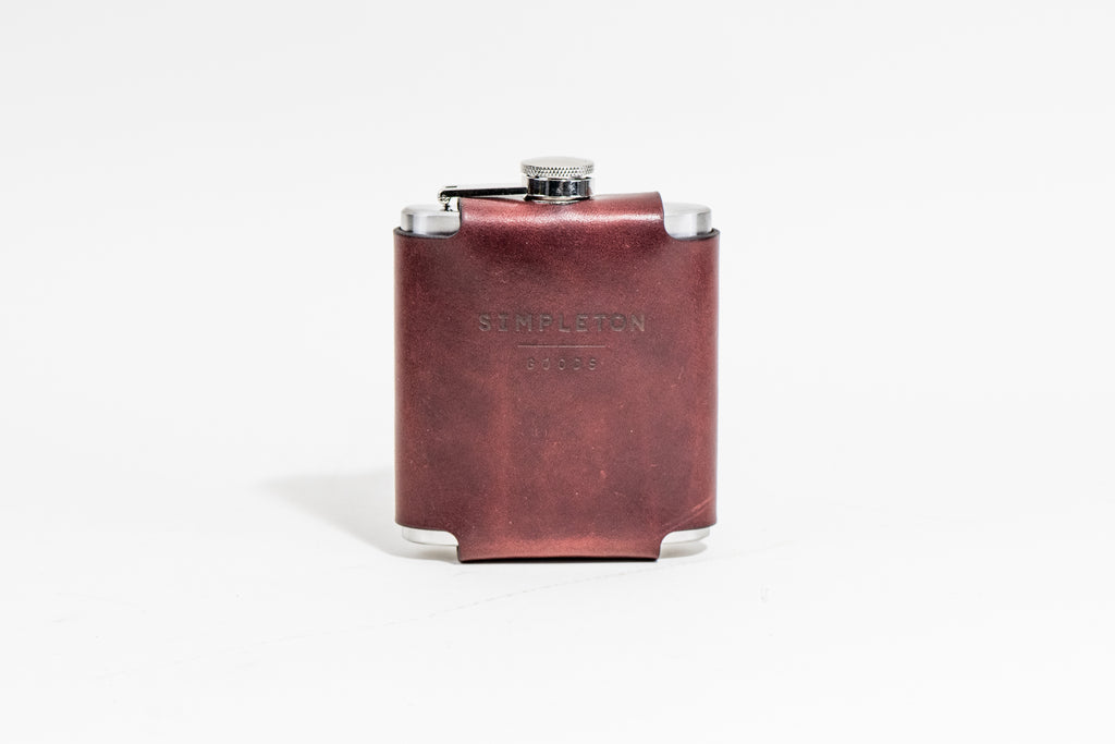 Flask & Cover : Burgundy