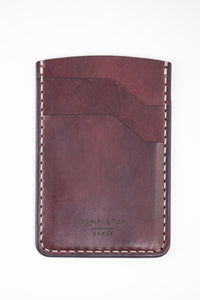 Hargrave Card Wallet : Burgundy